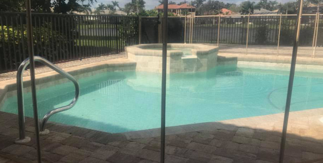 Pool Fences with See-Thru Mesh in and near Fort Myers Florida